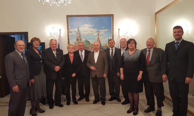 Delegacija ZZB NOB Slovenije pri ruskem veleposlaniku