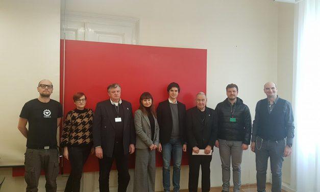 Predstavniki Zveze združenj borcev na srečanju s člani poslanske skupine Levice v Državnem zboru