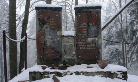 Oskrunitev spomenika NOB v Jelenovem žlebu