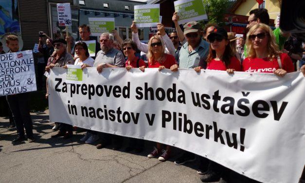 Na protestu proti ustaškem srečanju na Lubuškem polju tudi ZZB NOB Slovenije