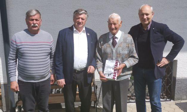 Obisk najstarejšega Šentjernejčana in srečanje s predsedniki Združenj borcev Dolenjske in Bele krajine